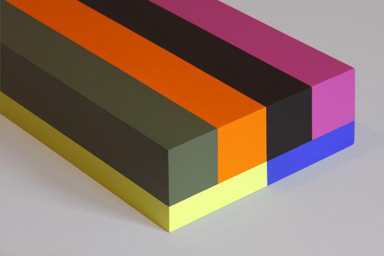 Box 31, 2008, 15 x 40 x 6 cm, Acryl auf Holz