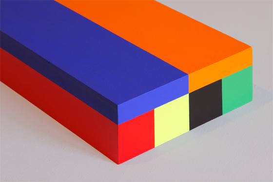 Box 42, 2008, 15 x 40 x 6 cm, Acryl auf Holz