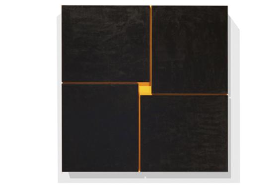 Relief 21, 2011, 43 x 43 cm, Acryl auf Holz