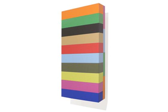 Stripes 07, 2011, 20 x 40 x 6 cm, Acryl auf Holz