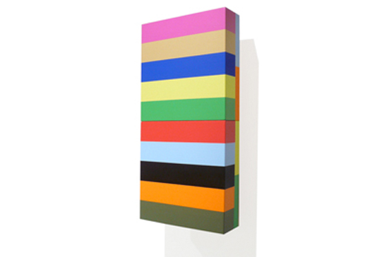 Stripes 06, 2011, 20 x 40 x 6 cm, Acryl auf Holz