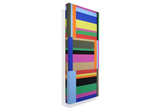 Stripes irregular 03, 2010, 40 x 90 x 6 cm, Acryl auf Holz