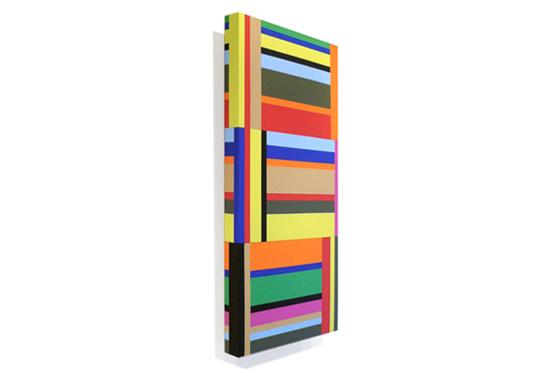 Stripes irregular 02, 2010, 40 x 90 x 6 cm, Acryl auf Holz